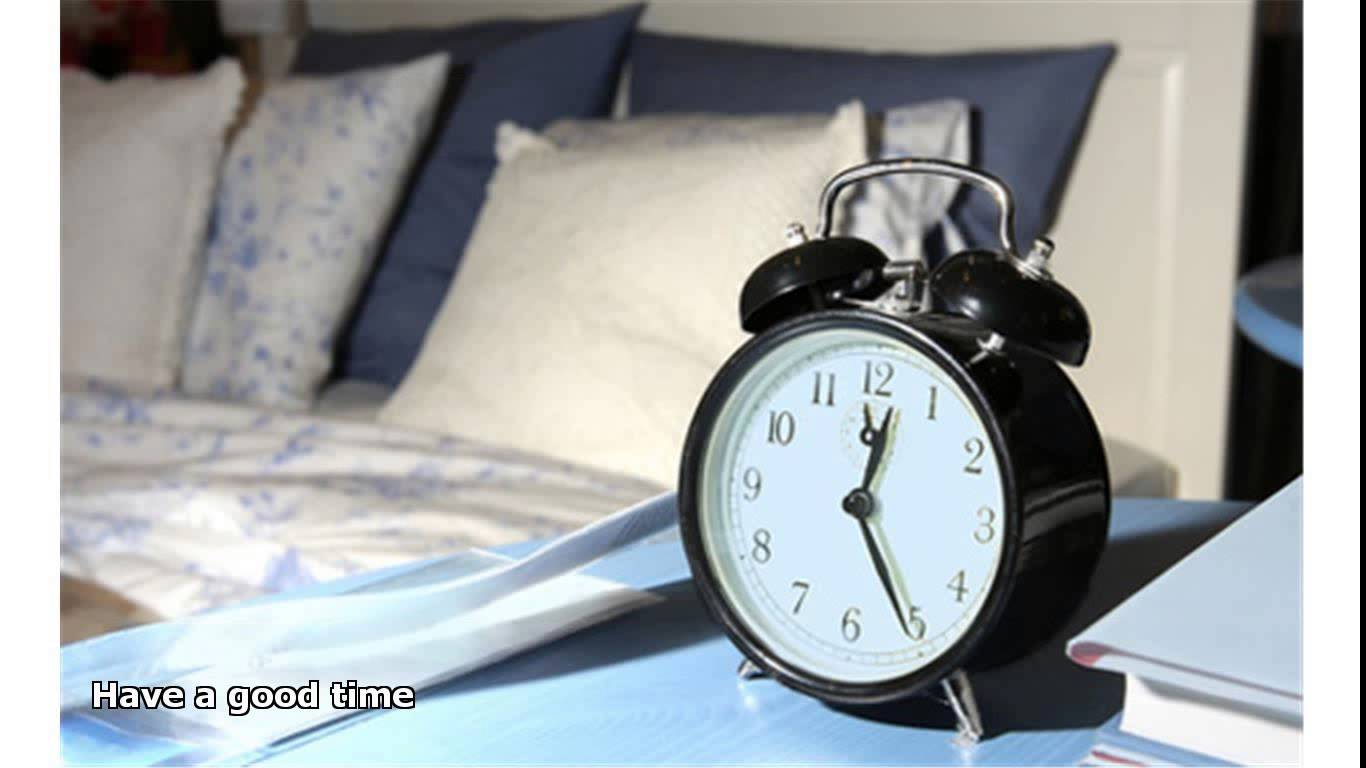 clock on night stand