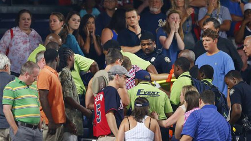 fan dies turner field